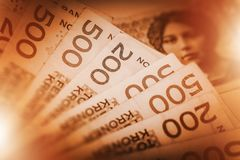 Νορβηγικά χρήματα μετρητών κορωνών στοκ φωτογραφία με δικαίωμα ελεύθερης χρήσης