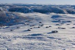 Νορβηγικές καμπίνες βουνών Στοκ Εικόνες