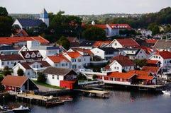 Νορβηγική άποψη Langesund, Νορβηγία λιμένων Στοκ Εικόνες