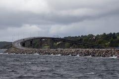 Νορβηγική γέφυρα στοκ εικόνες