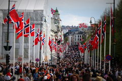 Νορβηγική ημέρα συνταγμάτων Στοκ φωτογραφίες με δικαίωμα ελεύθερης χρήσης