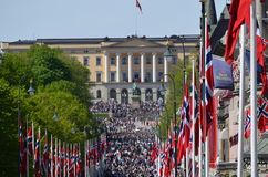 Νορβηγική ημέρα συνταγμάτων Στοκ Εικόνες