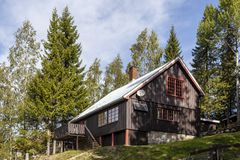 Νορβηγική ξύλινη καμπίνα στοκ εικόνα με δικαίωμα ελεύθερης χρήσης