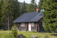 Νορβηγική ξύλινη καμπίνα στοκ εικόνες με δικαίωμα ελεύθερης χρήσης