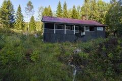 Νορβηγική ξύλινη καμπίνα στοκ φωτογραφία