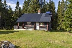 Νορβηγική ξύλινη καμπίνα στοκ φωτογραφία με δικαίωμα ελεύθερης χρήσης