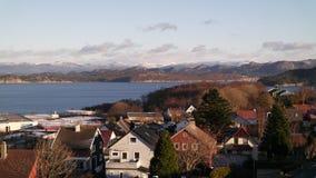 νορβηγική πόλη στοκ φωτογραφία με δικαίωμα ελεύθερης χρήσης