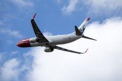 Νορβηγική σαΐτα ASA, απογείωση αέρα του Boeing 737-800 στοκ εικόνα με δικαίωμα ελεύθερης χρήσης