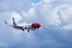 Νορβηγική σαΐτα ASA, Boeing 737 αέρα - 8JP στοκ εικόνα
