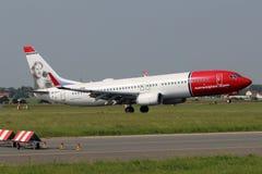 Νορβηγική σαΐτα Boeing 737 αέρα Στοκ Εικόνες