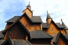 νορβηγική σανίδα εκκλησ&i στοκ φωτογραφία