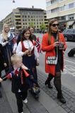 ΝΟΡΒΗΓΙΚΗ ΔΙΑΒΙΩΣΗ ΣΕ DENAMRK CELEBRAT Η ΗΜΈΡΑ NAATIONAL ΤΟΥΣ Στοκ φωτογραφίες με δικαίωμα ελεύθερης χρήσης