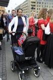 ΝΟΡΒΗΓΙΚΗ ΔΙΑΒΙΩΣΗ ΣΕ DENAMRK CELEBRAT Η ΗΜΈΡΑ NAATIONAL ΤΟΥΣ Στοκ εικόνες με δικαίωμα ελεύθερης χρήσης