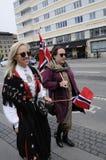 ΝΟΡΒΗΓΙΚΗ ΔΙΑΒΙΩΣΗ ΣΕ DENAMRK CELEBRAT Η ΗΜΈΡΑ NAATIONAL ΤΟΥΣ Στοκ φωτογραφία με δικαίωμα ελεύθερης χρήσης