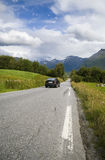 νορβηγικοί δρόμοι στοκ εικόνα