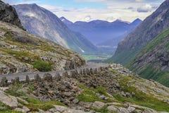 Νορβηγικός εθνικός δρόμος RV63 Στοκ Εικόνα