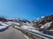 νορβηγικός δρόμος Στοκ Εικόνες