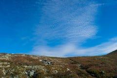 Νορβηγικό βουνό στα όμορφα χρώματα πτώσης Στοκ φωτογραφία με δικαίωμα ελεύθερης χρήσης