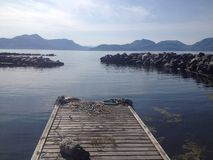Νορβηγικό λιμάνι βαρκών στοκ εικόνες