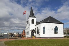 Νορβηγικό κέντρο Κάρντιφ τεχνών εκκλησιών Στοκ εικόνες με δικαίωμα ελεύθερης χρήσης