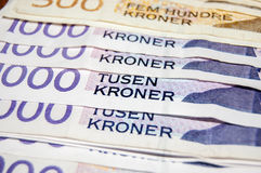 Νορβηγικό νόμισμα κορωνών στοκ εικόνα