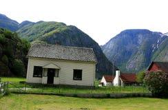 Νορβηγικό σαλέ Σαββατοκύριακου Στοκ φωτογραφία με δικαίωμα ελεύθερης χρήσης