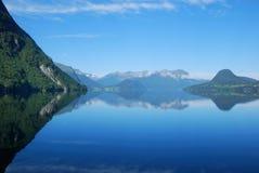 Νορβηγικό φιορδ Στοκ εικόνες με δικαίωμα ελεύθερης χρήσης