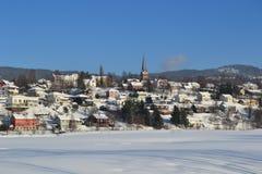 νορβηγικό χωριό Στοκ Εικόνα