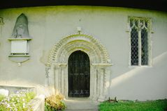 Νορμανδική πόρτα εκκλησιών Στοκ Εικόνες