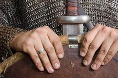 Νορμανδικός ιππότης στοκ εικόνα με δικαίωμα ελεύθερης χρήσης