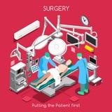 Νοσοκομείο 06 άνθρωποι Isometric απεικόνιση αποθεμάτων