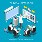 Νοσοκομείο 08 άνθρωποι Isometric απεικόνιση αποθεμάτων