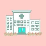 Νοσοκομείο στο ύφος τέχνης εικονοκυττάρου ελεύθερη απεικόνιση δικαιώματος