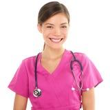 Νοσοκόμα ή νέος θηλυκός γιατρός. Στοκ Εικόνα