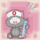 Νοσοκόμα γατών διανυσματική απεικόνιση