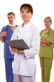 νοσοκόμα δύο γιατρών Στοκ Φωτογραφίες