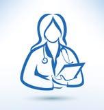 Νοσοκόμα, ιατρικός εργαζόμενος διανυσματική απεικόνιση
