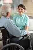 Νοσοκόμα και ο ασθενής Στοκ Εικόνα