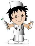 νοσοκόμα κινούμενων σχε&de Στοκ φωτογραφία με δικαίωμα ελεύθερης χρήσης