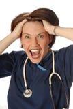 νοσοκόμα που τονίζεται στοκ εικόνες