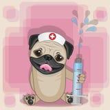 Νοσοκόμα σκυλιών μαλαγμένου πηλού ελεύθερη απεικόνιση δικαιώματος