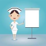 Νοσοκόμα στην παρουσίαση διανυσματική απεικόνιση
