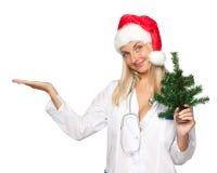 νοσοκόμα Χριστουγέννων Στοκ φωτογραφίες με δικαίωμα ελεύθερης χρήσης