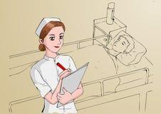 Νοσοκόμα απεικόνιση αποθεμάτων