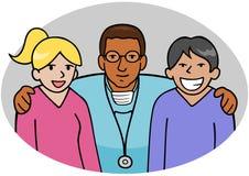 νοσοκόμες γιατρών διανυσματική απεικόνιση