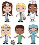 νοσοκόμες 1 γιατρών που τί&the διανυσματική απεικόνιση