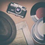 Νοσταλγική έννοια διάθεσης με τα παλαιά αναδρομικά πράγματα Στοκ Εικόνες