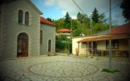 Νοσταλγικό σύντομο χρονογράφημα, εγκαταλειμμένο ελληνικό ορεινό χωριό, Ελλάδα στοκ εικόνες με δικαίωμα ελεύθερης χρήσης