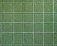 Νοσταλγικά πράσινα κεραμίδια τοίχων από τη δεκαετία του '70 Στοκ Φωτογραφία