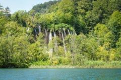 νοτιοανατολικός καταρράκτης plitvice πάρκων της Κροατίας Ευρώπη μεγαλύτερος εθνικός παλαιότερος Στοκ Εικόνα